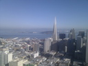 Transamerica Building ; Bay Bridge ; Treasure Island